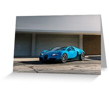 Transformers Bugatti Veyron Greeting Card
