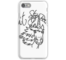 do not stop believin horn face head pink unicorn beautiful pony girls, kids design iPhone Case/Skin