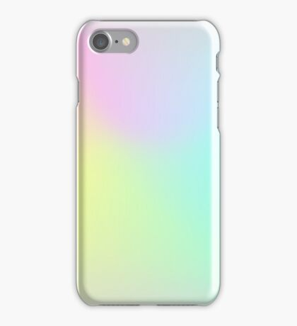 Holographic neon smog. iPhone Case/Skin