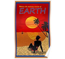 Mass Effect Earth Travel Poster Fan Art Poster