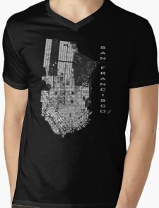 San Francisco map engraving Mens V-Neck T-Shirt