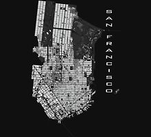 San Francisco map engraving Unisex T-Shirt