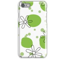 flowers on green spots iPhone Case/Skin