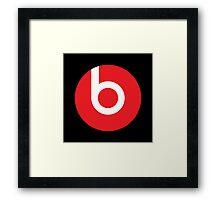 Beats | Logo | Black Background | High Quality!  Framed Print