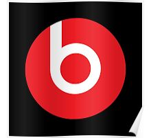 Beats | Logo | Black Background | High Quality!  Poster