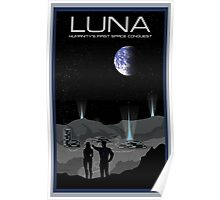 Mass Effect Luna Travel Poster Fan Art Poster