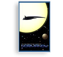 Mass Effect Normandy Travel Poster Fan Art Canvas Print