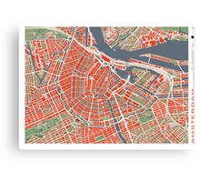 Amsterdam city map classic Canvas Print