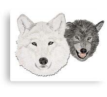 Wolves - Wölfe - white and black - weiß und schwarz Canvas Print