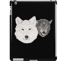 Wolves - Wölfe - white and black - weiß und schwarz iPad Case/Skin