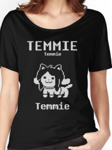 temmie temmi temmie temmie design Women's Relaxed Fit T-Shirt