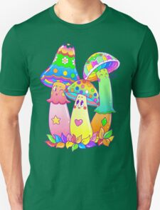 Colorful Mushroom Friends Unisex T-Shirt