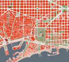 Barcelona city map classic Sticker