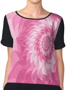 Surreal fractal cold pink flower Chiffon Top