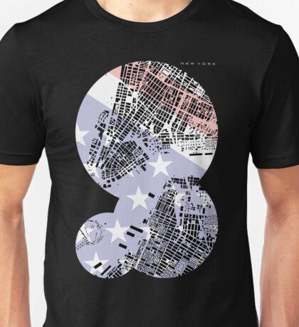 New York map classic Unisex T-Shirt