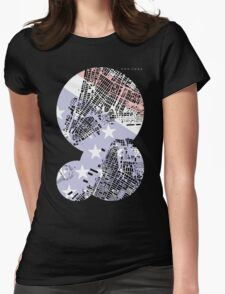 New York map classic Womens Fitted T-Shirt