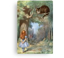 Vintage famous art - Alice In Wonderland - The Cheshire Cat Canvas Print
