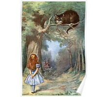 Vintage famous art - Alice In Wonderland - The Cheshire Cat Poster
