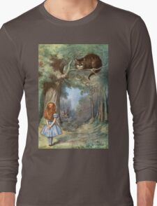 Vintage famous art - Alice In Wonderland - The Cheshire Cat Long Sleeve T-Shirt