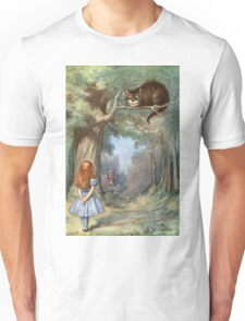 Vintage famous art - Alice In Wonderland - The Cheshire Cat Unisex T-Shirt