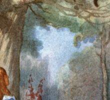 Vintage famous art - Alice In Wonderland - The Cheshire Cat Sticker
