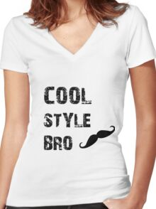Cool Style Bro Women's Fitted V-Neck T-Shirt