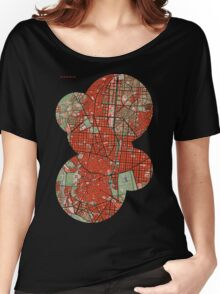 Madrid city map classic Women's Relaxed Fit T-Shirt