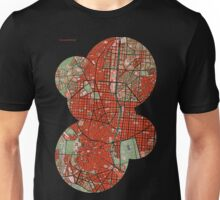 Madrid city map classic Unisex T-Shirt