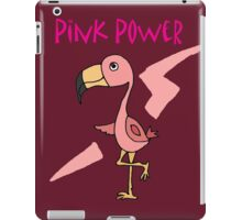 Cool Funny Pink Flamingo Pink Power Art iPad Case/Skin