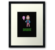 Deadbeat Framed Print