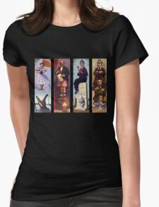 Haunted mansion all Characthers Womens Fitted T-Shirt