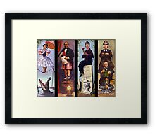 Haunted mansion all Characthers Framed Print