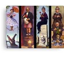 Haunted mansion all Characthers Canvas Print