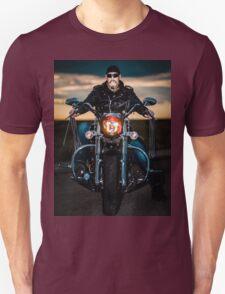 Skeggy Cruiser on Ebony front view no helmet Unisex T-Shirt
