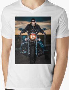 Skeggy Cruiser on Ebony front view no helmet T-Shirt