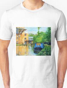 Narrow Boat at Coxes Lock Unisex T-Shirt