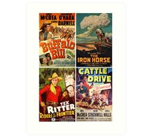 Western Movie Poster Collection #1 Art Print