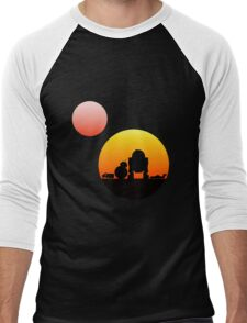 When Two Worlds Collide Men's Baseball ¾ T-Shirt