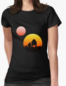 When Two Worlds Collide Womens Fitted T-Shirt