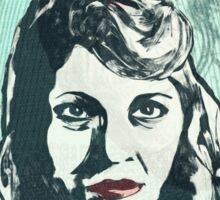 Sylvia Plath Digital Art Design Sticker