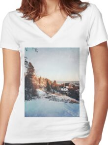 Trondheim. Women's Fitted V-Neck T-Shirt