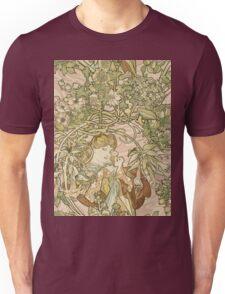 Alphonse Mucha - Lady With Daisy 1898 Unisex T-Shirt