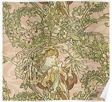 Alphonse Mucha - Lady With Daisy 1898 Poster