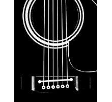 black acoustic Photographic Print