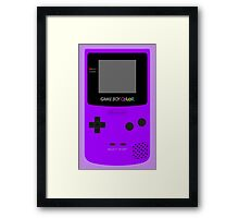 Game Boy Violet Framed Print