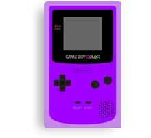 Game Boy Violet Canvas Print