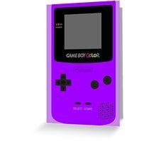 Game Boy Violet Greeting Card