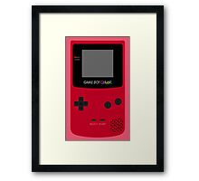 Game Boy Red Framed Print