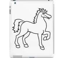 cool riding horse stallion equestrian comic cartoon iPad Case/Skin