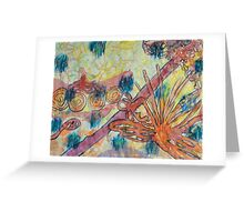 Beach Vegetation With Octopus Greeting Card